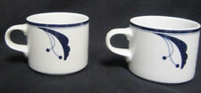 Two Dansk Flora Bayberry Blue 8 oz Coffee Cups