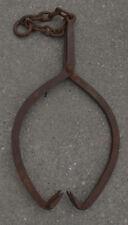 Vintage Cast Iron Log / Ice Block Skidder Tongs