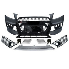 RSQ5 style complete front bumper kit set for 2013-15 Q5 SQ5 S-line with grill