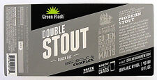 Green Flash Brewing DOUBLE STOUT- BLACK ALE beer label CA 12oz