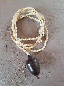 Ancien interrupteur en bakélite forme poire pour lampe ancienne art déco 1930