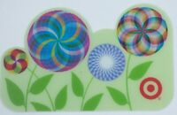 Target Gift Card Lenticular Die-Cut Flowers Spinning - 2005 -No Value -I Combine