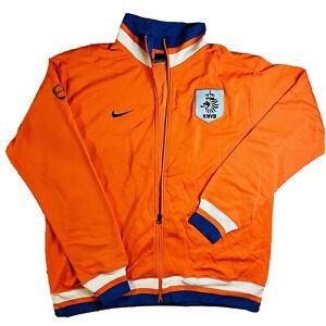 Netherlands Holland NIKE Men's Football Soccer KNVB Orange Track Jacket Sz XXL