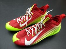 NIKE SIZE 9 MENS RED/GREEN ATHLETIC LACE-UP BASEBALL CLEATS 3E