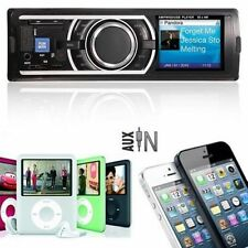 Car Stereo Fm Receiver Mp3 Player USB WMA SD Input AUX 3.5mm Receiver Audio