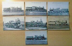 GER Claud, Single, E4 etc: SEVEN Locomotive Publishing Co. railway postcards