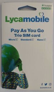 Lyca Pay as you go Mobile Phone SIM card, ONLY 20p