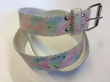 Girls/Ladies Multicoloured Glitter/Heart Sequin Belt