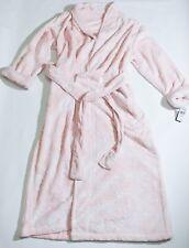 Natori XL Full Length Robe Blush Pink Bath Shower Robe Luxury Plush Damask NWT!