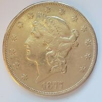 1877 $20 Liberty Gold Double Eagle fast shipping!