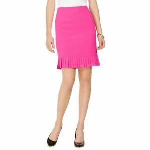 KASPER NEW Women's Petite Pleated Flounce Pencil Skirt TEDO