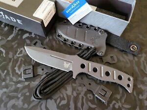 Benchmade 375BK-1 FIXED ADAMAS® CPM-Cruwear Cobalt Black (Brand New In Box)