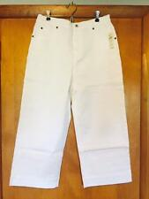 COLDWATER CREEK WHITE CROPPED JEANS IN MISSES SIZE 12