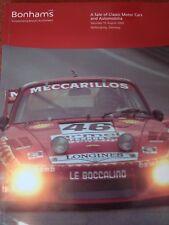 Bonhams Car Auction Catalogue - 10 August 2002 - Nurburgring