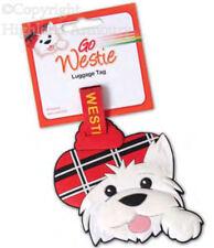 Westie Etiqueta del equipaje Escocés Escocia Cachorro Perro Tartán Pvc Para Maleta Nuevo