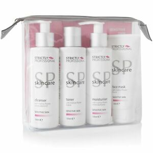 Strictly Professional Sensitive Facial Care Kit/Set Cleanser, Toner, Moisturiser