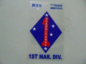 WINDOW DECAL STICKER APPROX 5 INCH GUADALCANAL 1ST MARINE DIVISION