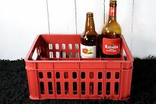 Plastic Bottle Carrier Crate Rack Red Storage Beer Milk Party Jar Can 12 Cells