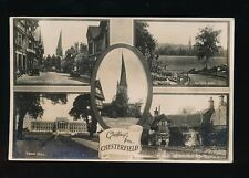 Derbyshire Derbys Greetings from CHESTERFIELD 1940 m/view RP PPC
