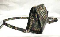 NEW Steve Madden Crossbody Handbag Purse Floral Black Colorful