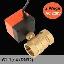 2 Wege DN32 Zonenventil Absperrhahn Kugelventil Ventil Absperrhahn Elektro 220V