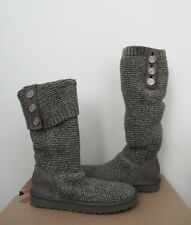 UGG Women's PURL CARDY Knit Boot CHARCOAL Grey (Gray) 8US NWOB $150 MSRP