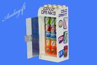 LEGO drinks vending machine water cola orange food fridge train station shop NEW