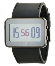 01 THE ONE TURNING DISC  DIGITAL + LIGHT WATCH IPLD1118-3GY GREY CASE PU STRAP