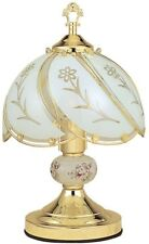 Touch Lamp 14.25 in. Floral Gold 3-Way Reliable Sensor Control Brushed Base