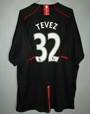 MANCHESTER UNITED ENGLAND 2007/2008/2009 AWAY FOOTBALL SHIRT JERSEY 32 TEVEZ 3XL