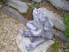 Steinfigur Drache Garten Deko Steinguss Gartenfiguren Drachen Fantasiefigur