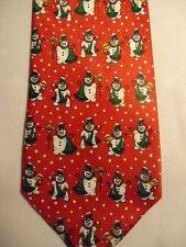 "Red Green White Christmas Snowmen Tie 59"""