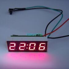 "0.40"" Digital LED Clock Watch Time for 12V 24V  Car Motorcycle bicycle E-bike R"