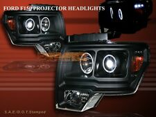 2009 2010 2011 FORD F150 BLACK TWIN HALO PROJECTOR HEADLIGHTS LED CCFL 09 10 11