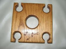 New listing Handmade Wooden Wine Caddy for Wine Bottle and Wine Glass Holder