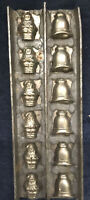 Vintage Antique Chocolate Or Candy Mold - Bells & Santas 🔔 🎅