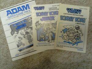 ColecoVision Coleco ADAM Manuals - Donkey Kong (3)