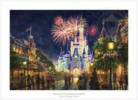 Thomas Kinkade Studios Main Street USA Disney World Resort 18 x 27 S/N LE Paper
