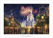 Thomas Kinkade Main Street USA Walt Disney World Resort 24 x 36 S/N LE Paper