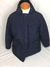 WOOLRICH Womens Blue Down Hooded Parka Jacket Size XXL