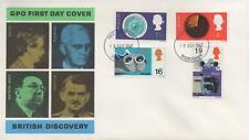 1967 GPO British Discovery Phosphor FDC Primo giorno di Copertura-Worcester