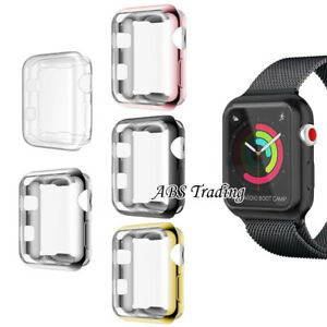 Hard/Soft Screen Case Protector Cover for Apple Watch 1 2 3 4 5 38/40/42/44mm
