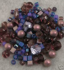 150+ VICTORIAN PURPLE LOOSE GLASS BEADS MIX Czech-Miyuki+ Lot