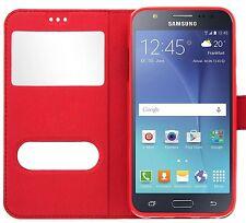 Etui Housse Coque Pochette Rouge Intérieur Silicone pour Samsung Galaxy S7 Edge
