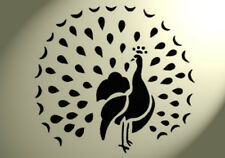 Shabby Chic Stencil Peacock big fan tail Rustic Vintage style A4 297x210mm