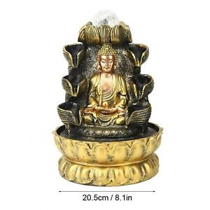 Desktop Fountain Decoration Buddha Flowing Water Ornament With Light And Ball YG