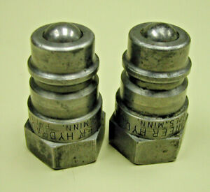 """2 Pioneer Hydraulic Quick Connect Nipples - Plug to 1/2"""" NPT"""