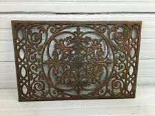Vintage Cast Iron Trivet Ornate Wall Hanging Victorian Patina Architecture 11x17