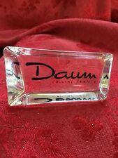FLAWLESS Exquisite DAUM France Crystal SHOWCASE DISPLAY SIGN DAUM Script