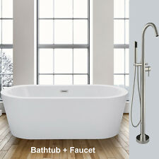 woodbridge bathtub b0012 with free standing faucet f0001 - Bathtub